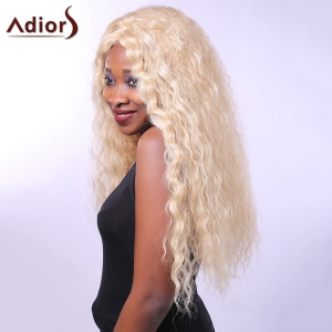 Heat-Resistant Outstanding Long Afro Curly Synthetic Capless Vogue Women's Blonde Wig -