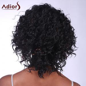 Fashion Deep Brown Highlight Synthetic Fluffy Kinky Curly Short Wig For Women - COLORMIX
