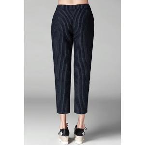 Striped Pockets Ninth Pants -