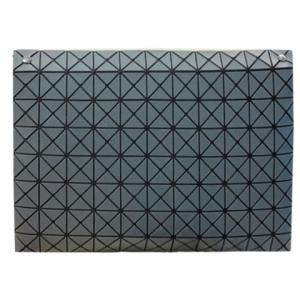 Fashionable Checked and Cover Design Clutch Bag For Women - GRAY