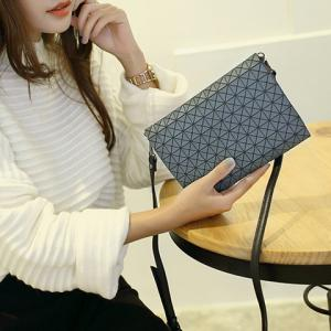 Fashionable Checked and Cover Design Clutch Bag For Women -