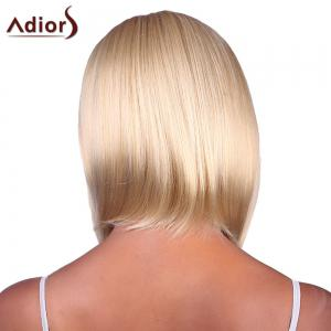 Fashion Short Straight Capless Bob Style Blonde Mixed Synthetic Adiors Wig For Women -