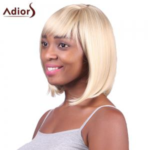 Fashion Short Straight Capless Bob Style Blonde Mixed Synthetic Adiors Wig For Women - GOLDEN BROWN/BLONDE