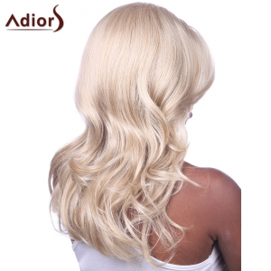 Charming Long Light Blonde Mixed Fluffy Wave Synthetic Adiors Wig For Women -