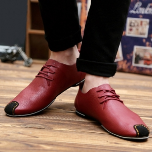 Concise Splicing and Lace-Up Design Casual Shoes For Men -
