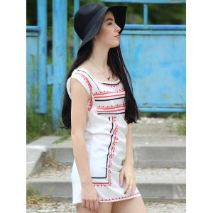 Attractive Color Block Striped Sleeveless Straight Dress For Women -