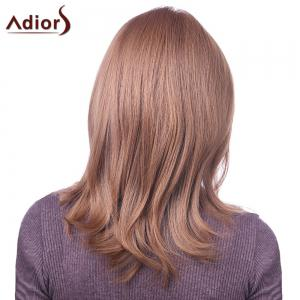 Elegant Light Brown Capless Natural Straight Long Synthetic Adiors Wig For Women -
