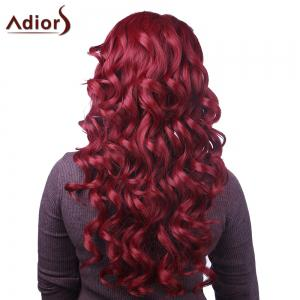 Attractive Long Red Capless Fluffy Curly Synthetic Adiors Wig For Women -