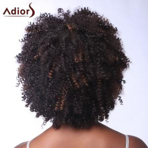 Vogue Brown Highlight Capless Fluffy Afro Curly Short Synthetic Adiors Wig For Women -