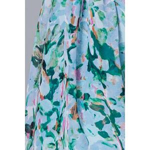 Polo Collar Printed Silk Midi Dress -