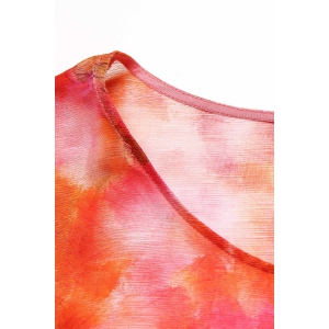 Scoop Neck Printed A Line Dress with Tank Top -