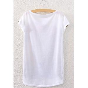 Casual Short Sleeve Face Pattern Round Neck Women's T-Shirt -