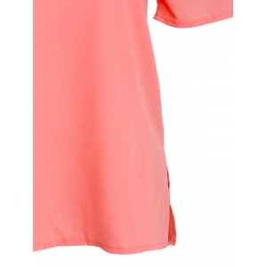 Fashionable Off The Shoulder Short Sleeve Solid Color Blouse For Women -