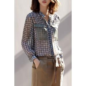 Pocket Design Thin Blouse -