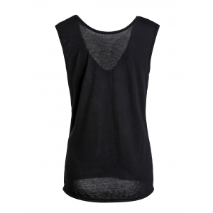 Stylish Sleeveless Backless Solid Color T-Shirt For Women -