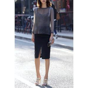 See-Through Pullover Blouse -