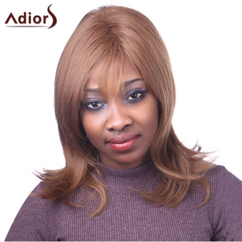 Buy Elegant Light Brown Capless Natural Straight Long Synthetic Adiors Wig For Women