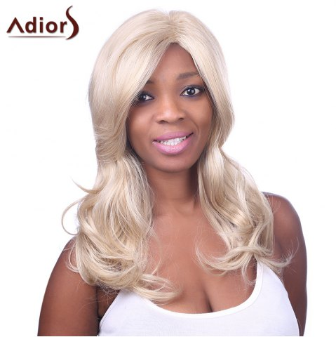 Outfit Charming Long Light Blonde Mixed Fluffy Wave Synthetic Adiors Wig For Women