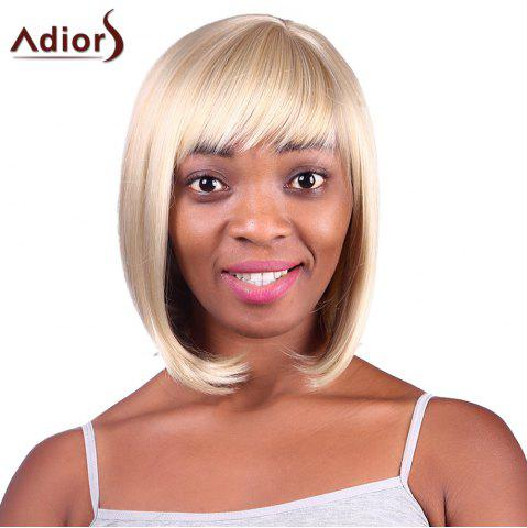 Chic Fashion Short Straight Capless Bob Style Blonde Mixed Synthetic Adiors Wig For Women