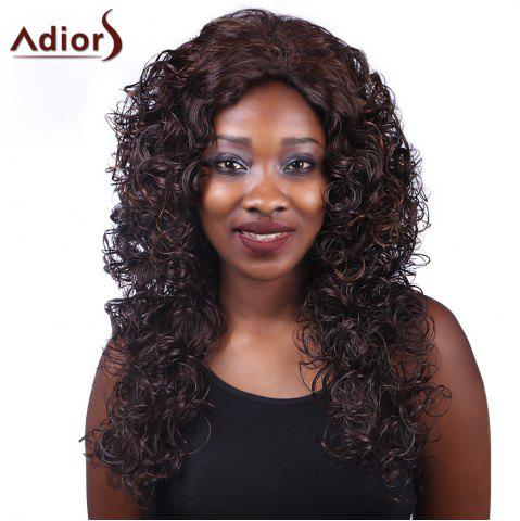 Cheap Adiors Long Curly Heat Resistant Synthetic Women's Wig COLORMIX