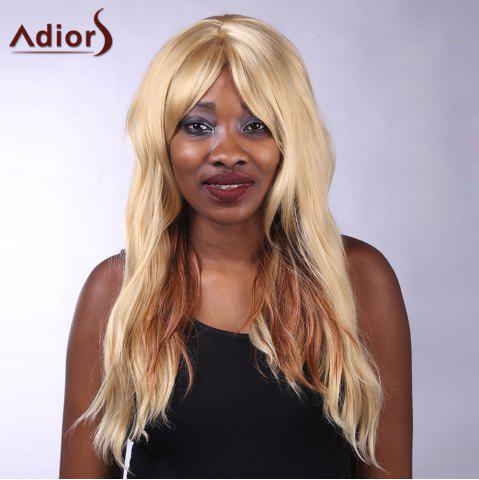 Adiors Long Side Bang Heat Resistant Synthetic Women's Wig - COLORMIX