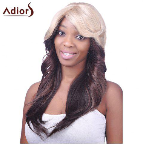 Hot Charming Sexy Side Bang Heat-Resistant Fibre Long Wavy Synthetic Capless Women's Ombre Wig