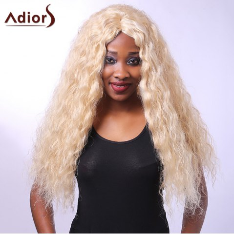 Outfit Heat-Resistant Outstanding Long Afro Curly Synthetic Capless Vogue Women's Blonde Wig