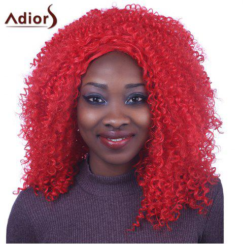 Fashion Shaggy Long Afro Curly Capless Fashion Red Synthetic Adiors Wig For Women