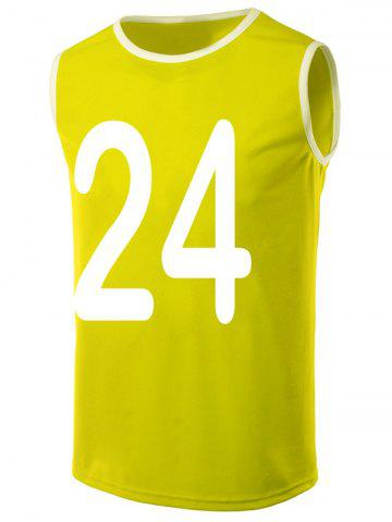 New Round Neck Number Print Loose-Fitting Tank Top For Men