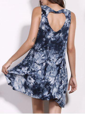 Outfit Casual Scoop Neck Floral Print Hollow Out Sleeveless Dress For Women