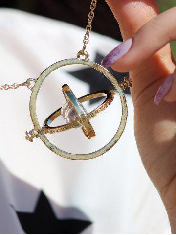 Store Retro Alloy Sand Clock Pendant Necklace AS THE PICTURE