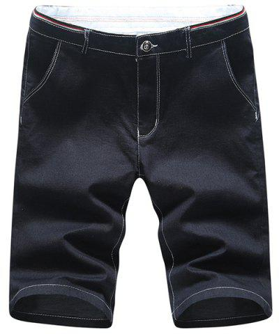 Discount Casual Zip Fly Straight Legs Denim Shorts For Men