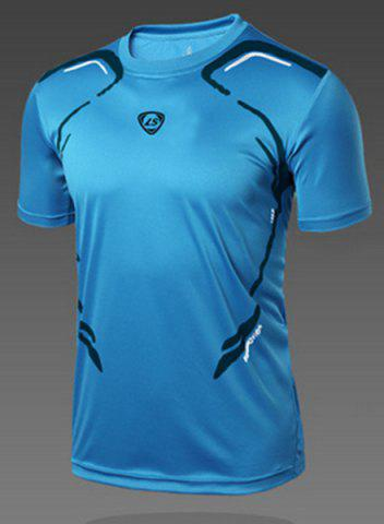 Latest Pullover Round Collar Quick Dry Men's Gym T-Shirt