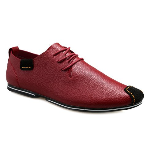 Outfits Concise Splicing and Lace-Up Design Casual Shoes For Men