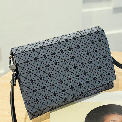Trendy Fashionable Checked and Cover Design Clutch Bag For Women GRAY
