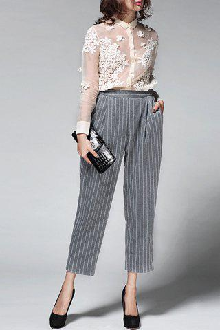 Online Striped Pockets Pants