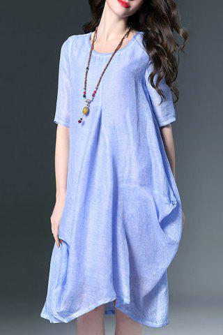 Fashion Baggy Linen Dress