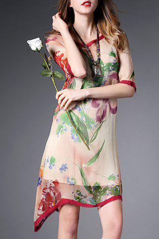 Fancy Cami Dress and Asymmetric Floral Dress
