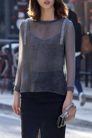 Outfit See-Through Pullover Blouse