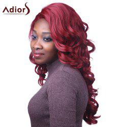 Attractive Long Red Capless Fluffy Curly Synthetic Adiors Wig For Women