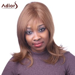Elegant Light Brown Capless Natural Straight Long Synthetic Adiors Wig For Women