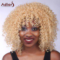 Shaggy Curly Heat Resistant Synthetic Vogue Blonde Meduim Capless Adiors Wig For Women