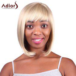 Fashion Short Straight Capless Bob Style Blonde Mixed Synthetic Adiors Wig For Women