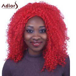 Shaggy Long Afro Curly Capless Fashion Red Synthetic Adiors Wig For Women -