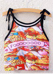 Spaghetti Strap Cartoon Graphic Tank Top -