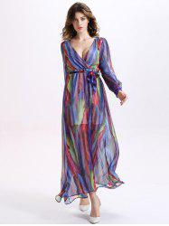 Long Sleeve Flowy Summer Maxi Dress