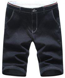 Casual Zip Fly Straight Legs Denim Shorts For Men -