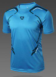 Pullover Round Collar Quick Dry Men's Gym T-Shirt -