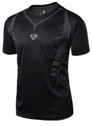 Printing Pullover Quick Dry Men's Gym T-Shirt -