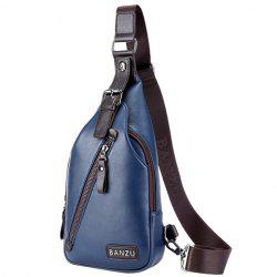 Casual Zip and Buckle Design Messenger Bag For Men -
